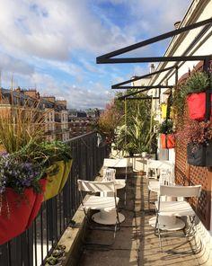 Une magnifique terrasse parisienne aménagée avec des BACSAC par Stéphane Marie dans l'émission Silence ça pousse !