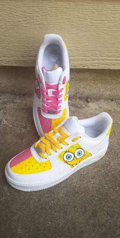 Custom Painted Shoes, Custom Shoes, Customised Shoes, Custom Af1, Custom Sneakers, Custom Jordans, Cute Nike Shoes, Nike Air Shoes, Air Force One Shoes