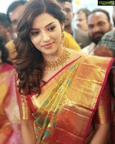 Image may contain: 1 person Wedding Saree Blouse, Bridal Silk Saree, Designer Bridal Lehenga, Silk Sarees, Kanjivaram Sarees, Saree Dress, Indian Sarees, Beautiful Saree, Beautiful Indian Actress