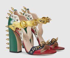 Les 15 talons les plus extravagants de la saison - Sandales Gucci, printemps-été 2016 - http://tendance-talons.com/?p=25714