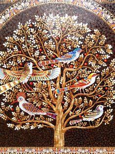 Мозаичное панно дерево жизни