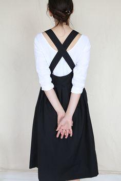 rennes Ohara Apron Dress Black
