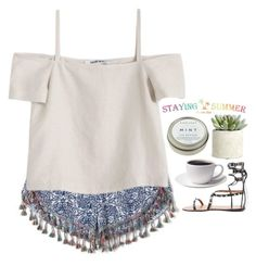 """Stayingsummer 7"" by emilypondng ❤ liked on Polyvore featuring Shaina Mote, Allstate Floral, CB2 and stayingsummer"