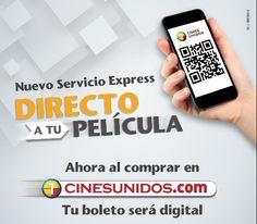CinesUnidos: Compra en línea entradas de cine y llega directo a la sala