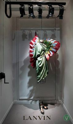 Lanvin windows, Paris visual merchandising / Wings!