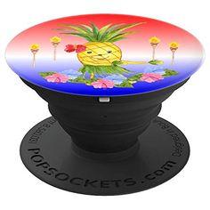 Hawaiian Luau Pineapple Hula Dancing Tiki Torches Hibiscus #cutepopsocket #funnypineapple #Hawaiiluau #coolpopsocket #stockingstuffer #cheapchristmasgifts