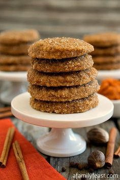 Pumpkin Spice Sugar Cookies - A Family Feast