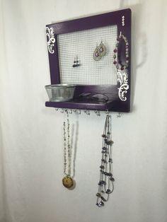 Jewelry Organization, My Etsy Shop, Tray, Purple, Unique Jewelry, Handmade Gifts, Vintage, Kid Craft Gifts, Jewelry Storage