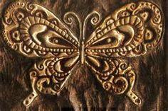 metal embossed butterfly