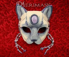 Amethyst Moonstone Lilac Point Siamese Cat ...original by Merimask, $210.00