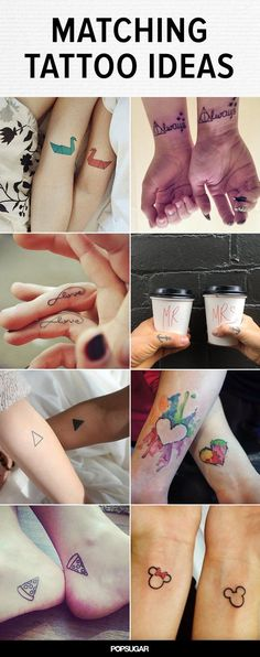 Couples' tattoos can be pretty hit or miss. We've seen corresponding full-body tattoos that form torso-sized hearts and questionable ink with indiscernible meanings. And then there's always the issue of a potential breakup. Do you get a major laser-removal job, try to make it into something else, or stick with it longer than you stuck with the relationship? Still, sometimes you get the cool couple with amazing ink ideas and who totally nail their matching tattoos. Here is some adorable body…