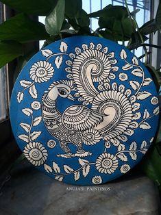 Mandala Art Therapy, Mandala Art Lesson, Mandala Drawing, Pichwai Paintings, Indian Art Paintings, Madhubani Art, Madhubani Painting, Canvas Painting Designs, Kalamkari Painting