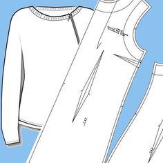 Выкройка женской куртки-бомбер, толстовки с удлиненным плечом WH140617 — Шкатулка