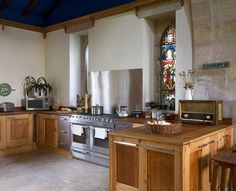 Converted church kitchen
