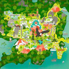 brillant map/infographic illustrations by Vesa Sammalisto