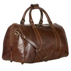 Brown leather holdall bag from John Lewis £155