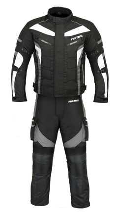 (ST02) Motorbike Suit Textile Cordura CE Armoured Mens Motorcycle Suit Grey: Amazon.co.uk: Sports & Outdoors