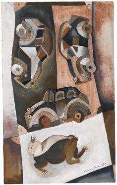 Sapo con Coches, Francisco Toledo. Mexican, born in 1940.