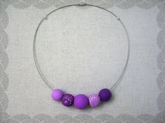 Items similar to Unique polymer clay beads necklace on Etsy Polymer Clay Beads, Beaded Necklace, Unique Jewelry, Handmade Gifts, Vintage, Etsy, Beaded Collar, Kid Craft Gifts, Pearl Necklace