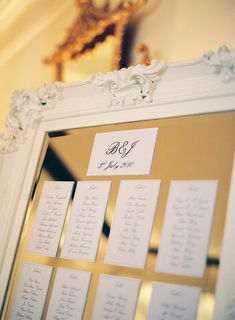 Table Plan.. could just use double side table for the table plans and then take them off later and use the new mirror at home!