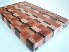 solid end grain cutting block hand crafted by David Wolfgram from ecohardwoods (etsy) http://www.etsy.com/shop/ecohardwoods #wooden #kitchenware #recycled