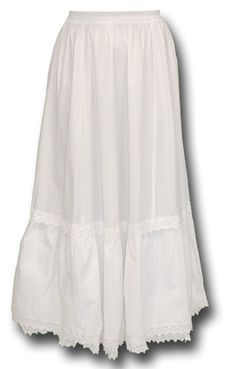 Traditional Victorian Petticoat - White Cotton  Read reviews Item: 002493  $44.95