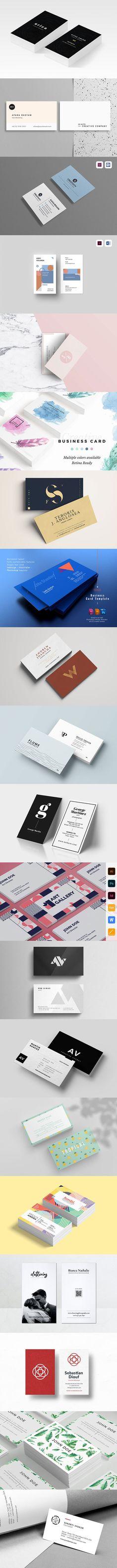 35 Business Card Templates for Photographer, Artist & Designer – Bashooka Business Card Design, Business Cards, Card Templates, Photoshop, Artist, Magazine Design, Visit Cards, Carte De Visite, Amen