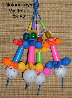 African Grey Toys - Nalani Toys Diy Macaw Toys, Parrot Perch, Parrot Toys, Sugar Gliders, Conure, Bird Toys, Cockatiel, Parrots, Mistletoe
