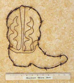 Cowboy Boot II  Hand made rustic barbed wire by BarbedWireArtist