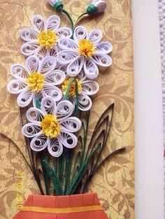Quill art flowers