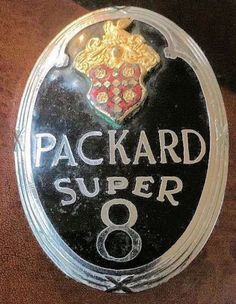 Packard Super 8 Car Badges, Car Logos, Auto Logos, Logo Autos, Company Badge, Car Symbols, Car Hood Ornaments, Automotive Logo, 3d Models