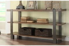 Northwood Rectangular Sofa Table with Two Shelves by Homelegance