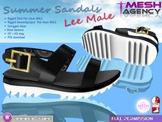 "Slink & TMP Flat MALE Sandals ""Lee"" - POCKET PRICE  - FULL PERM"