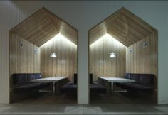 Wooden Clad Booth Seating