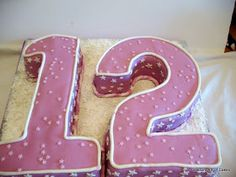 Veena's Art of Cakes: Number Cakes - One, Two or Twelve or Birthday Countdown, Buy Cake, Number Cakes, 12th Birthday, Cake Decorating Tutorials, Cake Art, Cake Recipes, Numbers, Food Porn