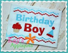 Birthday Boy Faux Smock Baby Kay's HAVE