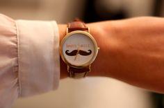 bon jour moustache watch