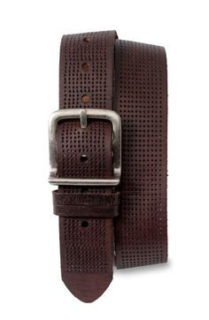 Bill Adler 1981 Perforated Leather Belt available at Faux Leather Belts, Leather Buckle, Leather Men, Brown Belt, Belts For Women, Man Gifts, Mens Fashion, Fall Fashion, Nordstrom