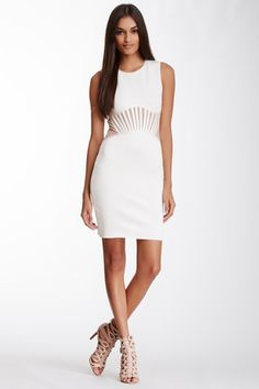 Wow Couture Contrast Mesh Waist Dress by Assorted on @HauteLook