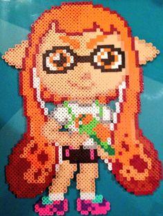 Chibi Splatoon Girl perler beads by Perler-Pony