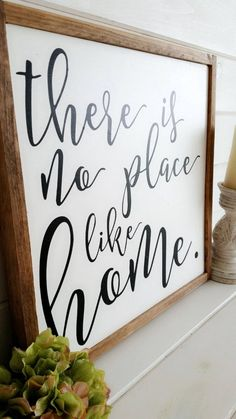 There is No Place Like Home Hand Painted Wood Sign: Chic Modern Farmhouse, Rustic Decor, Wall Art, H Painted Wood Signs, Wooden Signs, Hand Painted, Modern Farmhouse Decor, Rustic Decor, Country Decor, Farmhouse Signs, Rustic Chic, Modern Decor
