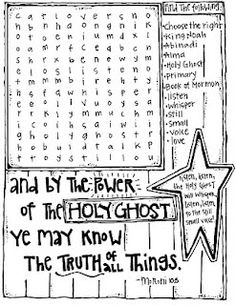 HOLY GHOST find a word puzzle