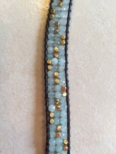 Beaded Leather Wrap Bracelet by BraceletBundle on Etsy https://www.etsy.com/listing/226090968/beaded-leather-wrap-bracelet