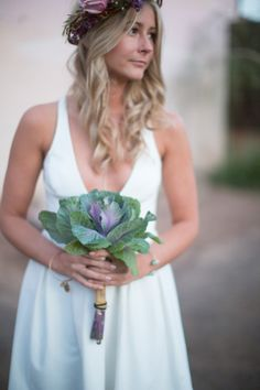 Ornamental Cabbage: http://www.stylemepretty.com/2015/04/21/20-green-bouquets-for-earth-day/