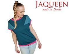 Shirt lässig Fledermaus Top Jersey  geometrisch von JaqueenFashion, €42.00
