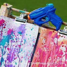 Get messy and arty this summer with Soap Foam Printing. Kids love it!