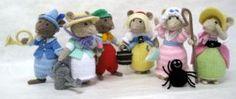 Alan Dart Knitting Pattern: Nursery Rhyme Mice*