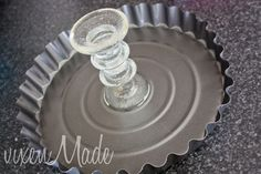 DIY dollar store cake stand - make this cake plate for just $2! #diy #partyideas #crafts