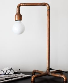 #copper table lamp by Daniella Witte