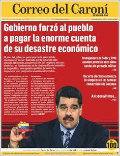 #20160219 #VENEZUELA #BOLIVAR #CiudadGuayana #CORREOdelCARONÍ Viernes 19 FEB 2016 http://en.kiosko.net/ve/2016-02-19/np/ve_correo_caroni.html